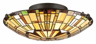 Quoizel TF1408SVB Tiffany 17 Inch Diameter Semi Flush Lighting - Vintage Bronze
