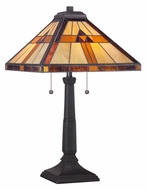 Quoizel TF1427T Tiffany Transitional 2 Pull Chain 23 Inch Tall Table Lamp Lighting