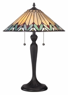 Quoizel TF1433T Tiffany 2 Pull Chain 23 Inch Tall Living Room Table Lamp