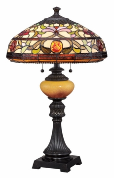 Quoizel TF1575TIB Tiffany 27 Inch Tall Table Lamp Lighting - Imperial Bronze