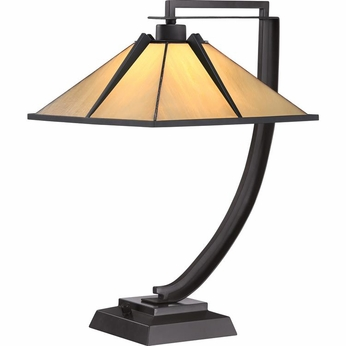 Quoizel TF1791TWT Tiffany Western Bronze Finish 13 Wide Table Lamp Lighting