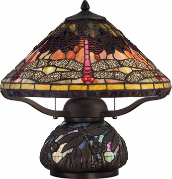 Quoizel TF1851TIB Tiffany Imperial Bronze Table Lamp Lighting