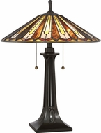 Quoizel TF2076TVB Tiffany Tiffany Vintage Bronze Side Table Lamp