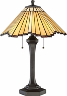 Quoizel TF2806TWT Tiffany Tiffany Western Bronze Side Table Lamp