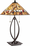 Quoizel TF3182TWT Tiffany Western Bronze Lighting Table Lamp