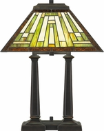 Quoizel TF5208RS Decker Traditional Russet Table Lighting