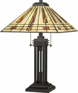 Quoizel TF5209TWT Stevie Traditional Western Bronze Lighting Table Lamp