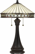 Quoizel TF5210TVB Bowing Traditional Vintage Bronze Table Lamp Lighting