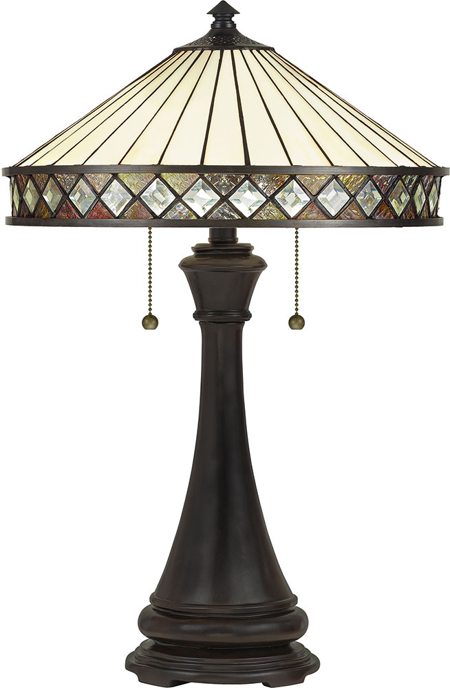Quoizel Tf5210tvb Bowing Traditional Vintage Bronze Table