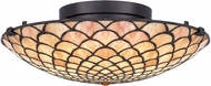 Quoizel TF5291MBK Tiffany Matte Black LED Ceiling Lighting Fixture