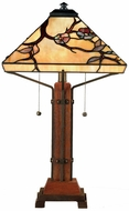 Quoizel TF6898M Grove Park Tiffany Table Lamp in Multi