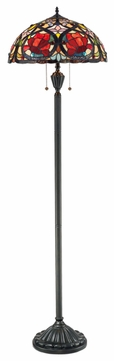 Quoizel TF879F Larissa Tiffany European Style Floor Lamp
