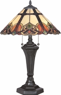 Quoizel TFCB6325VB Cambridge Tiffany Vintage Bronze Table Lamp Lighting