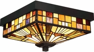 Quoizel TFIK1611VA Inglenook Tiffany Valiant Bronze Flush Mount Light Fixture