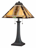 Quoizel TFNO6325VA Navajo 25 Inch Tall Valiant Bronze Tiffany Table Lamp
