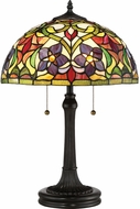 Quoizel TFVT6323VB Violets Tiffany Vintage Bronze Table Lamp Lighting