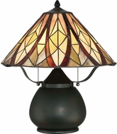Quoizel TFVY6118VA Victory Tiffany Valiant Bronze Table Top Lamp