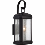 Quoizel TML8408K Trumbull Traditional Mystic Black Finish 8.5  Wide Outdoor Wall Lamp