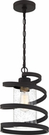 Quoizel TMT1510WT Tumult Contemporary Western Bronze Mini Hanging Lamp