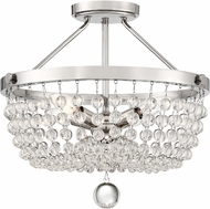 Quoizel TRA1716PK Teresa Contemporary Polished Nickel 16  Overhead Lighting Fixture