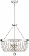 Quoizel TRA2820PK Teresa Contemporary Polished Nickel Pendant Lighting Fixture