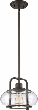 Quoizel TRG1510OZ Trilogy Contemporary Old Bronze Mini Hanging Light