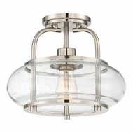 Quoizel TRG1712BN Trilogy Contemporary Brushed Nickel Fluorescent Flush Mount Lighting Fixture