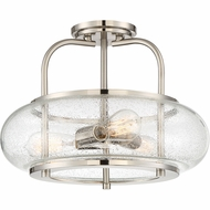 Quoizel TRG1716BN Trilogy Modern Brushed Nickel Fluorescent Flush Ceiling Light Fixture