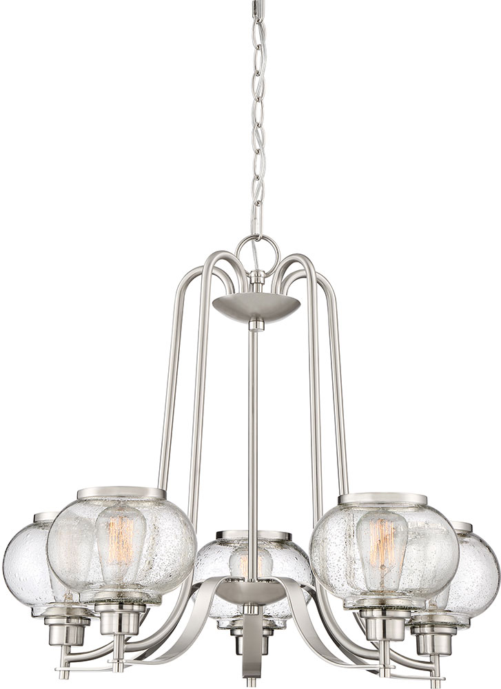 Modern Brushed Nickel Chandelier