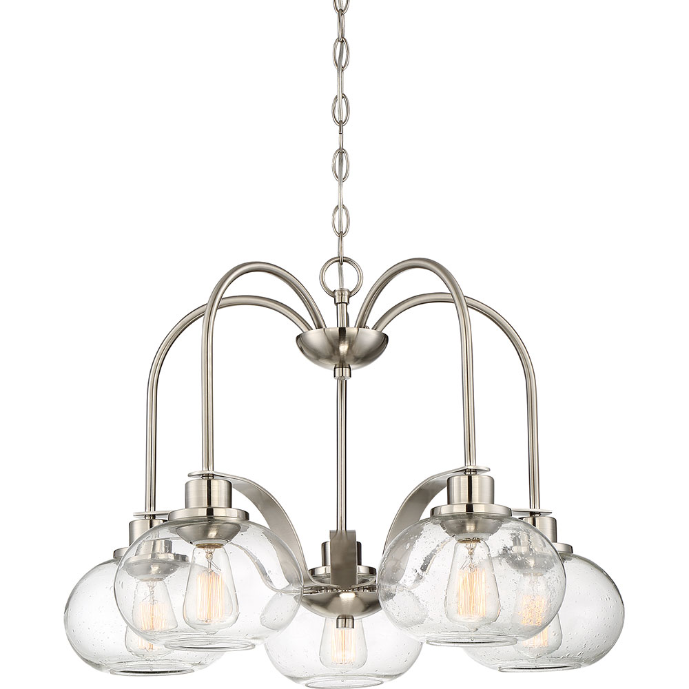 Quoizel Trg5105bn Trilogy Contemporary Brushed Nickel Fluorescent Lighting Chandelier Loading Zoom