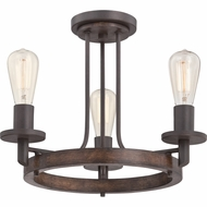 Quoizel TVN1717DK Tavern Vintage Darkest Bronze Finish 14.5  Tall Overhead Lighting Fixture