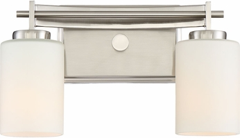 Quoizel TY8602BN Taylor Contemporary Brushed Nickel 2-Light Bathroom Wall Sconce