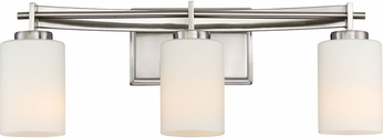 Quoizel TY8603BN Taylor Modern Brushed Nickel 3-Light Bath Wall Sconce