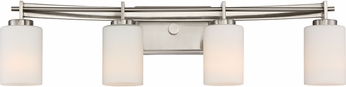 Quoizel TY8604BN Taylor Contemporary Brushed Nickel 4-Light Bathroom Light Sconce