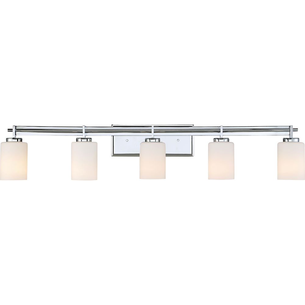 Quoizel Ty8605c Taylor Contemporary Polished Chrome 5 Light Bathroom Vanity Fixture Loading Zoom