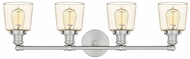 Quoizel UNI8604BN Union Contemporary Brushed Nickel 4-Light Bath Lighting Sconce