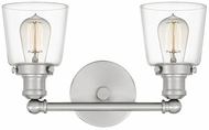 Quoizel UNIC8602BN Union Modern Brushed Nickel 2-Light Bathroom Wall Light Fixture