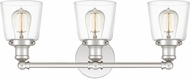 Quoizel UNIC8603PK Union Contemporary Polished Nickel 3-Light Bath Lighting