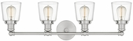 Quoizel UNIC8604BN Union Modern Brushed Nickel 4-Light Bathroom Light