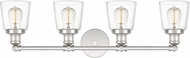 Quoizel UNIC8604PK Union Contemporary Polished Nickel 4-Light Bathroom Lighting Fixture