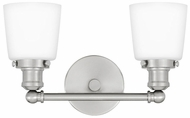 Quoizel UNIO8602BN Union Modern Brushed Nickel 2-Light Bathroom Vanity Light