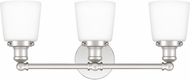 Quoizel UNIO8603PK Union Contemporary Polished Nickel 3-Light Vanity Light Fixture