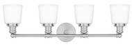 Quoizel UNIO8604BN Union Modern Brushed Nickel 4-Light Vanity Lighting Fixture