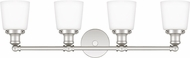 Quoizel UNIO8604PK Union Contemporary Polished Nickel 4-Light Bathroom Vanity Light Fixture
