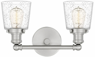 Quoizel UNIS8602BN Union Modern Brushed Nickel 2-Light Bathroom Wall Sconce