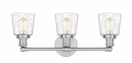 Quoizel UNIS8603BN Union Modern Brushed Nickel 3-Light Bathroom Light Sconce