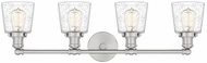 Quoizel UNIS8604BN Union Modern Brushed Nickel 4-Light Bathroom Sconce Lighting