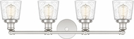 Quoizel UNIS8604PK Union Contemporary Polished Nickel 4-Light Bath Lighting Sconce