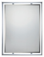 Quoizel UPRZ53426C Uptown Ritz 34 Inch Tall Polished Chrome Finsih Wall Mounted Mirror