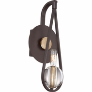 Quoizel UPSE8701WT Uptown Seaport Western Bronze Finish 4.5  Wide Wall Sconce Lighting